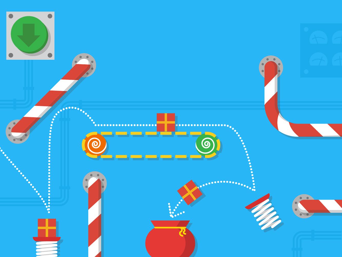 present bounce google santa tracker